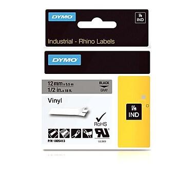 Dymo® - Étiquettes adhésives Rhino™ industrielles en vinyle, 1/2 po x 18 pi