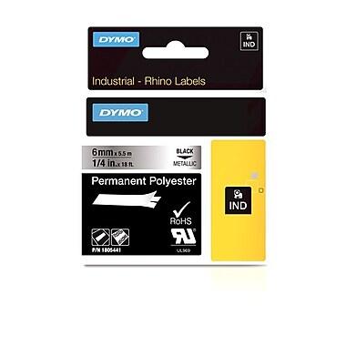 Dymo® – Rubans adhésifs industriels Rhino™ en polyester permanent, 1/4 po x 18 pi