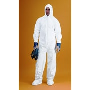 Keystone CVL-KG-B White Microporous Polyolefin Fabric Disposable Coverall/Bunny Suit