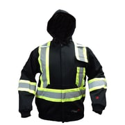 Viking FR Cotton Fleece Lined Safety Hoodie, Black
