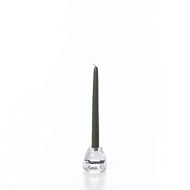 Yummi Taper Candles, Olive, 72 Candles/Box