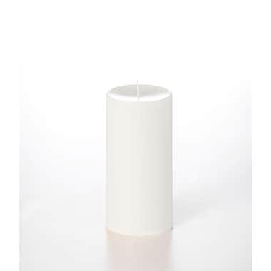 Yummi – Bougies-pilier colonnes inodores, blanc, 2 bougies/boîte