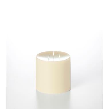 Yummi – Bougies-pilier colonnes inodores, ivoire, 4 bougies/boîte