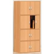 Hodedah HID44 8-Door Wood Storage Cabinets