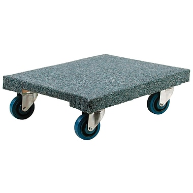 KLETON – Socle roulant robuste en bois d'érable, revêtement en tapis