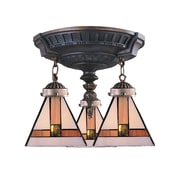 "Elk Lighting Mix-N-Match 582997-AW 16"" 3 Light Semi Flush Mount"