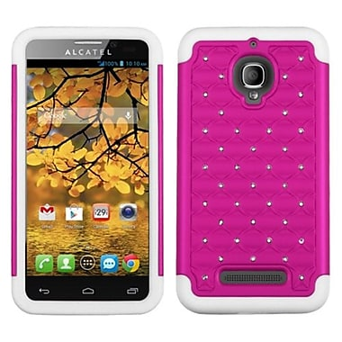 Insten® Luxurious Lattice Dazzling Protector Case F/Alcatel 7024W