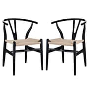 Modway Amish EEI-1319 Set of 2 Wood Dining Chairs