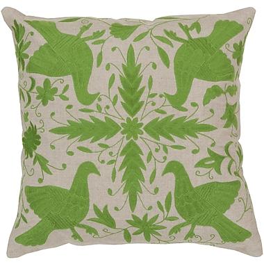 Surya LD018 Otomi 100% Linen w/ Cotton Detail