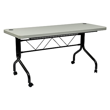 Office Star Products Multipurpose Flip Table, Gray