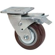 KLETON – Roulettes pivotantes en polyuréthane avec freins, 2/paquet