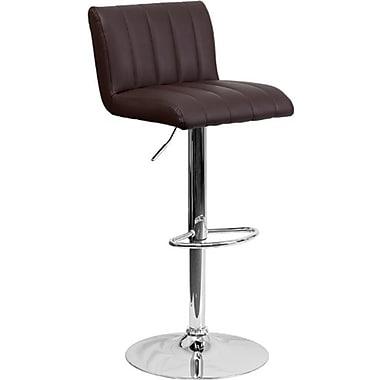 Flash Furniture – Tabouret de bar ajustable en vinyle et à pied chromé, 16 1/2 x 19 1/2 po