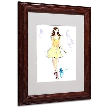 Trademark Jennifer Lilya White Matte With Wood Frame
