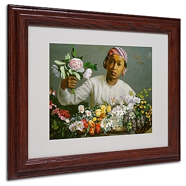 Trademark Jean Frederic Bazille White Matte With Wood Frame