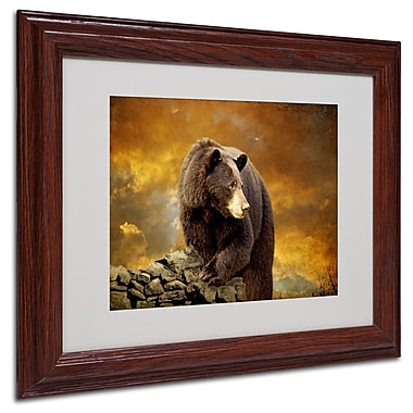 Trademark Lois Bryan White Matte With Wood Frame