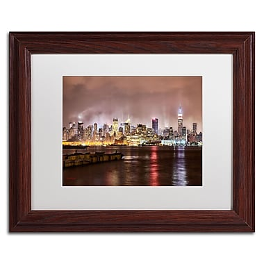 Trademark David Ayash White Matte With Wood Frame