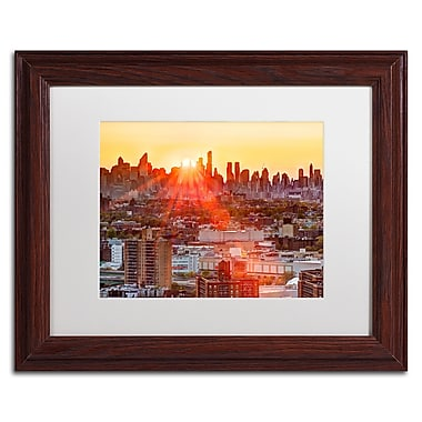 Trademark David Ayash White Matte With Wood Frame