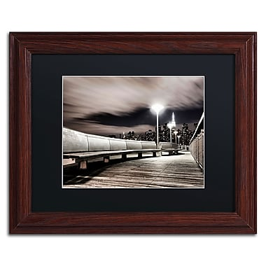 Trademark David Ayash Black Matte With Wood Frame