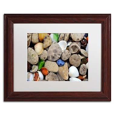 Trademark Michelle Calkins White Matte With Wood Frame