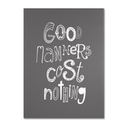 """Trademark Megan Romo """"Good Manners IV"""" Gallery-Wrapped Canvas Arts"""