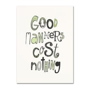 """Trademark Megan Romo """"Good Manners V"""" Gallery-Wrapped Canvas Arts"""