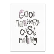 """Trademark Megan Romo """"Good Manners VI"""" Gallery-Wrapped Canvas Arts"""