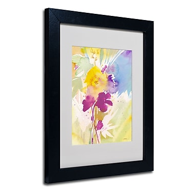 Trademark Sheila Golden White Matte With Black Frame