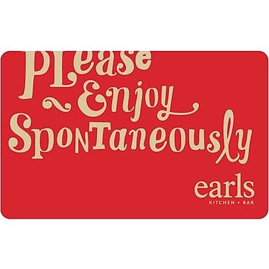 Earls Restaurant - Cartes-cadeaux