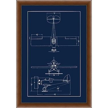Sea Plane Blue Print Framed Art, 28