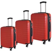 """McBRINE Eco Friendly 3-Piece Luggage Set Consisting of 28"""", 24"""" and 20"""" Uprights on Double Spinner Wheels, 70% Recycled Material"""