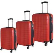 McBRINE – Ensemble de 3 valises écolo, 28 po, 24 po, 20, verticales, roues pivotantes doubles, matériau recyclé à 70 %