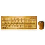 Impecca KBB60 USB RF Wireless Bamboo Designer Keyboard and Mouse
