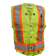 Open Road Surveyor Safety Vest, Fluorescent Green