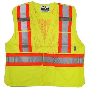 Viking Hi-Viz Mesh 5pt. Tear Away Safety Vest, Fluorescent Green, 3 Pack