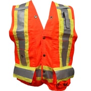 Viking – Veste de sécurité pour arpenteur, orange fluorescent, paquet de 3