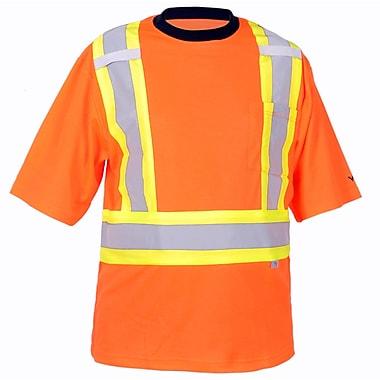 Viking – T-shirt de sécurité doublé de coton avec protection contre UV 50+, orange fluorescent