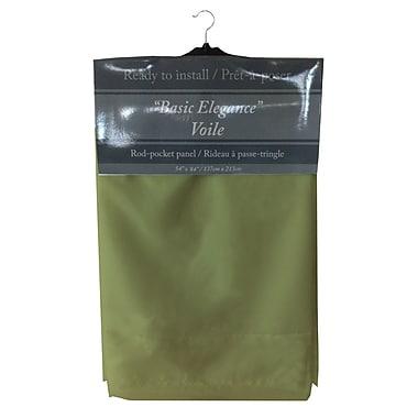 Maison Condelle Maison Condelle Basic Elegance Rod Pocket Voile Panels, Lime