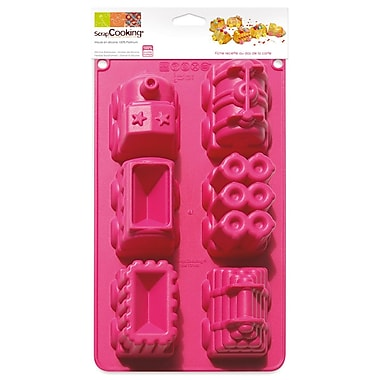 ScrapCooking 100% Platinum Silicone Molds, Cars Collection
