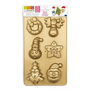 ScrapCooking 100% Platinum Silicone Molds, Christmas Collection