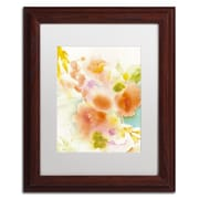 "Trademark Fine Art SG5703-W-MF ""Orange Reflection"" by Sheila Golden Framed Art, White Matted"