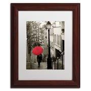 "Trademark Fine Art WAP0133-W-MF ""Paris Stroll II"" by Sue Schlabach Framed Art, White Matted"