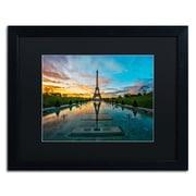 "Trademark Fine Art RV0022-B1620 ""Sunrise in Paris"" by Mathieu Rivrin 16"" x 20"" Framed Art"