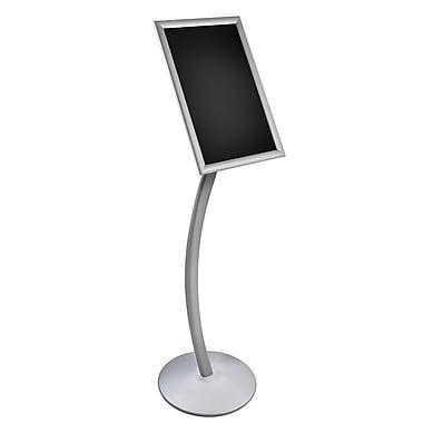 Azar Displays Frame Floor Display on Curved Stand