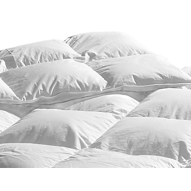 Highland Feathers – Couette d'été 233 fils au pouce carré en coton biologique et duvet d'oie blanc, gonflement 650