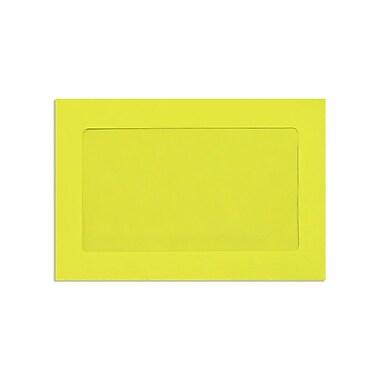 LUX ? Enveloppes à fenêtre pleine grandeur, 6 x 9 po, citron
