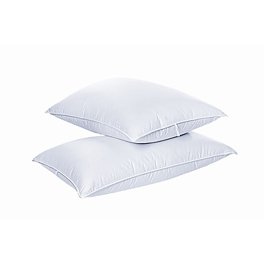Highland Feathers 500Tc Swiss Dot 700 Loft Hungarian White Goose Down Pillow Queen Sizes