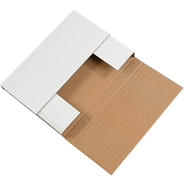 Partners Brand White Easy Fold Mailers, 50/Bundle
