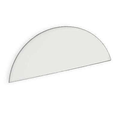 Azar Displays White Half Round Header Sign