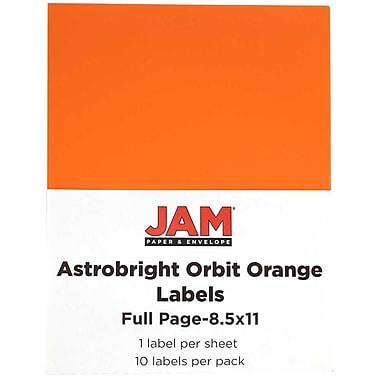 Jam PaperMD – Étiquettes autocollantes pleine page Astrobright, 8 1/2 x 11 po, 10/paquet