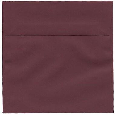 JAM Paper – Enveloppes simples carrées, 6 x 6 po, bourgogne foncé, 250/paquet